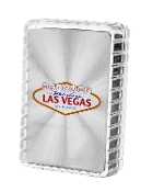 Las Vegas Style® Silver Foil Welcome to Las Vegas Playing Cards