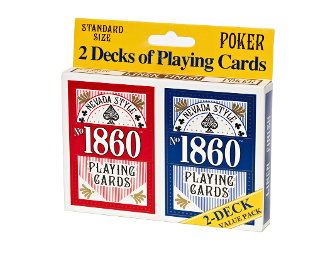 Las Vegas Style® No. 1860 Double Pack Standard Face Cards